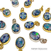 Mosaic opal charm