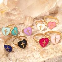 Heart cross ring  #11~15