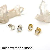 【受注商品】Bijou pierce〈Rainbow moon stone〉