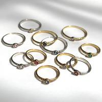 【受注商品】K18 Birthday stone pattern ring〈エメラルド/ルビー/サファイア〉