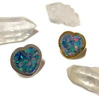 【受注商品】Heart mosaic opal ring