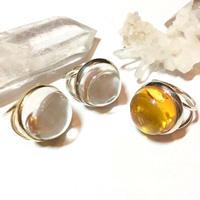 【受注商品】Dome ring S <crystal/amber>