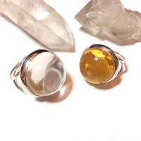 【受注商品】Dome ring L <crystal/amber>