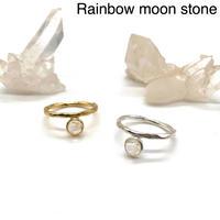 【受注商品】Bijou ring〈Rainbow moon stone〉