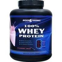 BodyStrong 100%ホエイプロテイン ストロベリークリーム風味  2,268g