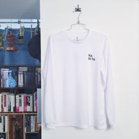NANIYA Long Sleeve T-shirt(White・Black)