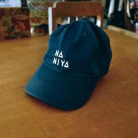 NANIYA  ロゴ刺繍キャップ(ネイビー・カーキ)