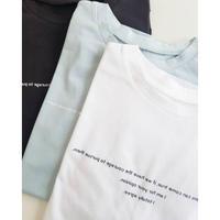 日本製メッセージロゴTシャツ サイロプレミアム 白 ミントグリーン チャコール