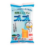 携帯用ミニトイレ プルプル【3個入】( 400-267)