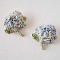 紫陽花ブローチ 藍色