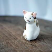 陶猫のオブジェ ミケB