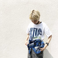 【Dignite collier】 スカーフドッキングTシャツ