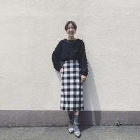 Dignite collier チェックタイトスカート