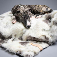 [Labbvenn] Fur Blanket (M) アイボリーグレージュ