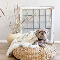 [Labbvenn] Fur Blanket (S) アイボリーグレージュ
