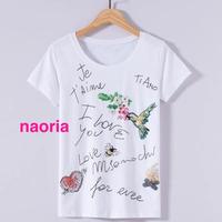 即納 メッセージビジューTシャツ