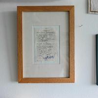 木製フレーム(手紙)
