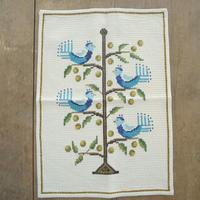 北欧刺繍クロス(鳥)