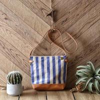 【THE SUPREIOR LABOR】stripe leather bottom shoulder bag deep S