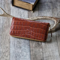 【THE SUPERIOR LABOR】crocodile zip long wallet