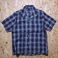 MULLER & BROS S/S open collar shirt sample 166