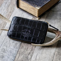 【THE SUPERIOR LABOR】crocodile zip middle wallet