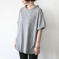 DOUBLE NECK T-SHIRT_GRAY