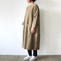 APRON SMOCK ONE PIECE_BEIGE
