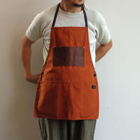 06 LEATHER POCKET APRON_ORANGE