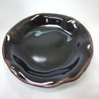 【一点物】変形皿(大・青散らし) [1]