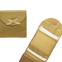 NaRaYa(ナラヤ)携帯用 コンパクト 収納 サニタリーケース( 三つ折りタイプ 生理用品 ナプキンポーチ )・サテン(ゴールド) NBS-344A
