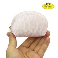 ナラヤ NaRaYa タイ かわいい手のひらサイズ シェル型ポーチ 化粧ポーチ ・プリーツ(ベビーピンク) NPL-37   送料無料