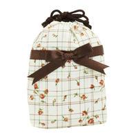 NaRaYa(ナラヤ) 巾着袋ポーチ(ランジェリーポーチ トラベルポーチ)・タータンフラワー(NB-258/S)