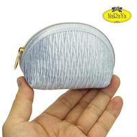 ナラヤ NaRaYa タイ かわいい手のひらサイズ シェル型ポーチ 化粧ポーチ ・プリーツ(サックス) NPL-37   送料無料