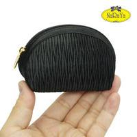 ナラヤ NaRaYa タイ かわいい手のひらサイズ シェル型ポーチ 化粧ポーチ ・プリーツ(ブラック) NPL-37   送料無料