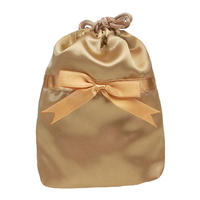 NaRaYa(ナラヤ) 巾着袋ポーチ(ランジェリーポーチ トラベルポーチ)・サテン(ゴールド) NBS-258/S