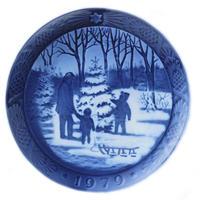 ロイヤルコペンハーゲン イヤープレート 1979年/昭和54年 「クリスマスツリーを選ぶ」