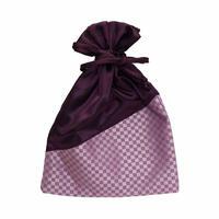 NaRaYa(ナラヤ) 巾着袋ポーチ・ミニチェック(パープルピンク) NBCS-195/F