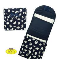 ナラヤ NaRaYa 携帯用 コンパクト 収納 サニタリーケース( 三つ折りタイプ 生理用品 ナプキンポーチ )・ネイビーエレファント NB-344A