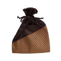 NaRaYa(ナラヤ) 巾着袋ポーチ・ミニチェック(ブラウン) NBCS-195/F