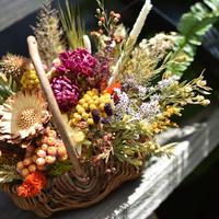 dry flower basket (バスケットアレンジメント)