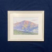 「馬籠、藤村が想い続けた恵那山」複製画