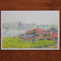 夏の縦走路(ポストカード)