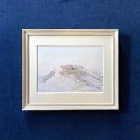 「山小屋の朝」複製画