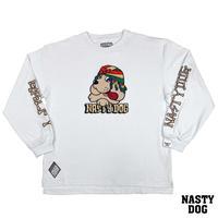 NastyDog×GALFY/ Long SleeveTee  White
