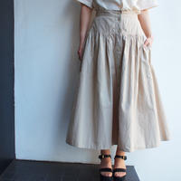 Earth color cotton skirt