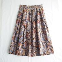 Velveteen botanical printed skirt