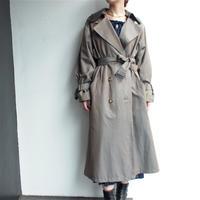 Khaki Leather collar(取外可)Trench coat
