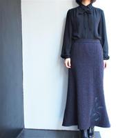 Wool  tweed mermaid long skirt