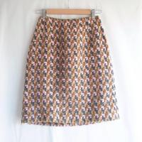 Colorful tweed Wool skirt